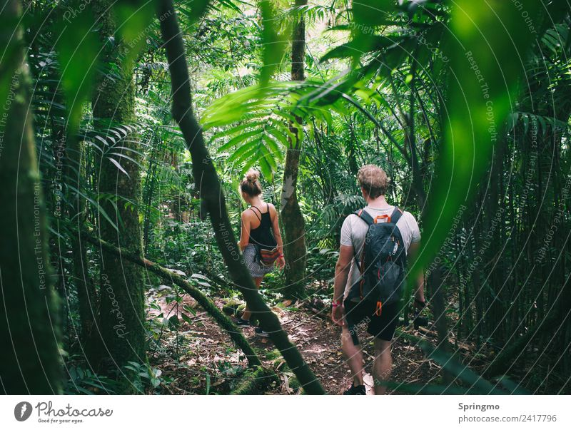 adventureIScalling Adventure Expedition Hiking Masculine Feminine Friendship Youth (Young adults) 2 Human being Nature Tree Leaf Forest Virgin forest Volcano