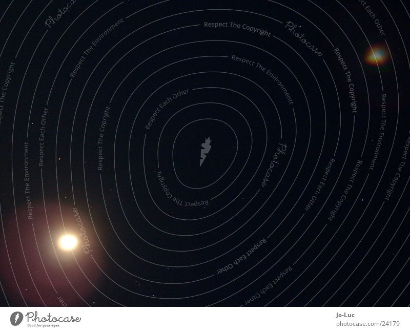 Dark Stars Fog Moon UFO Starry sky Full  moon Aura