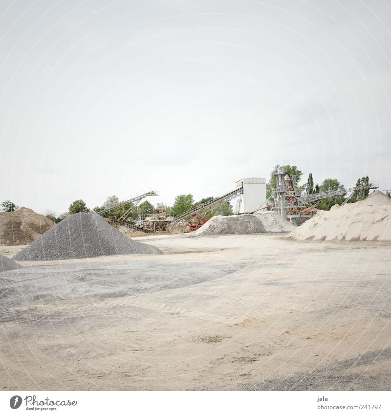 Sky Tree Plant Stone Sand Large Places Construction site Hill Company Workplace Conveyor belt Gravel plant