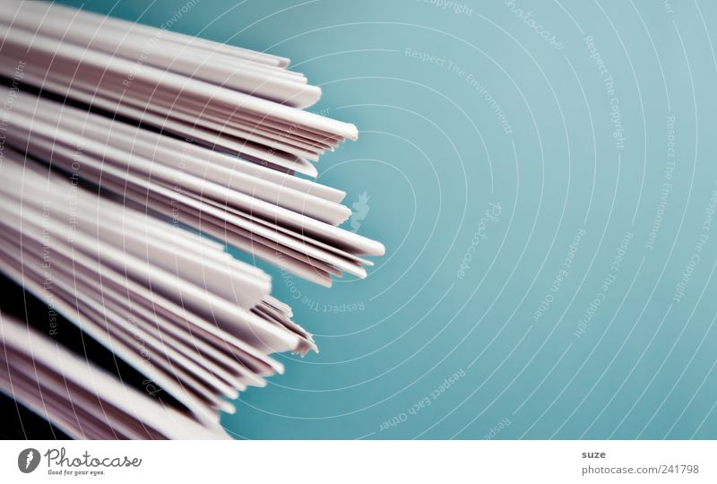 Blue White Line Paper Lifestyle Culture Simple Education Information Newspaper Media Advertising Contact Accumulation Stack Magazine