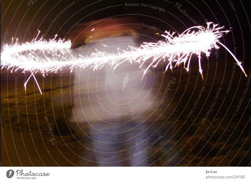 Child Girl New Year's Eve Rotate Spark Spray Sparkler