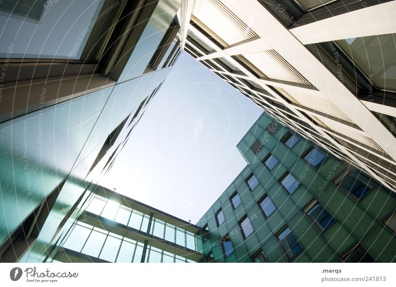 Window Architecture Building Facade Tall Modern Esthetic Growth Perspective Lifestyle Cool (slang) Living or residing Bank building Manmade structures