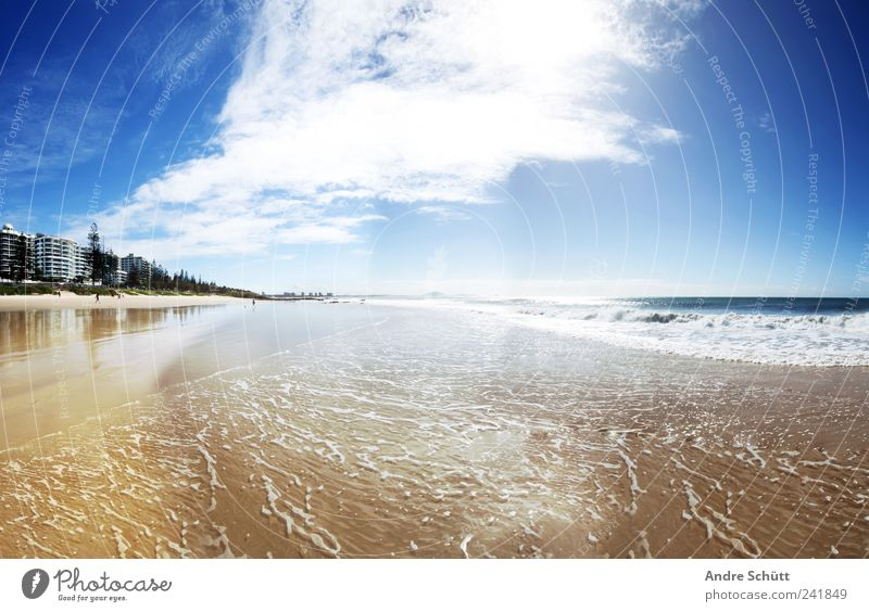 Mooloolaba - Sunshine Coast Lifestyle Relaxation Swimming & Bathing Vacation & Travel Summer vacation Sand Air Water Clouds Sunlight Beautiful weather Ocean