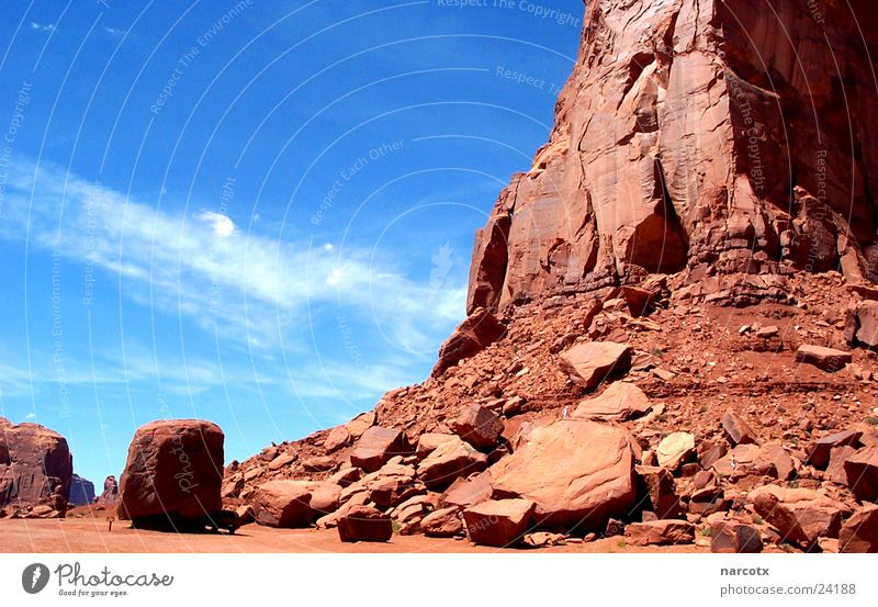Park Large Rock Might USA Americas Blue sky National Park Western Vest Impressive Film industry Monument Valley South West