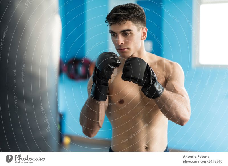 Boxer man Sports Human being Man Adults 18 - 30 years Youth (Young adults) Black-haired Fitness Strong White Boxing Latin American training Gymnasium young