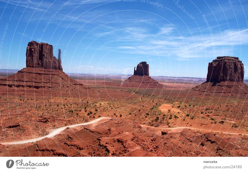 Park Large Rock Might USA Americas Blue sky National Park Western Vest Impressive Monument Valley South West