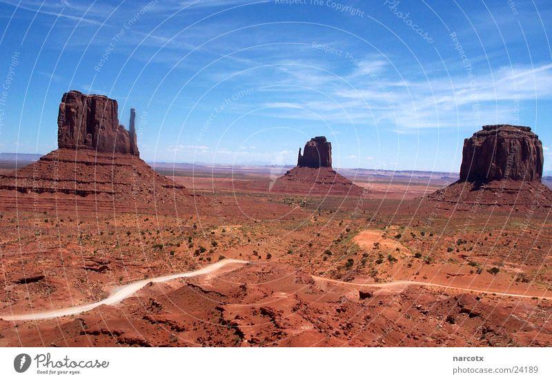 Park Large Rock Might USA Americas Blue sky National Park Western Vest Impressive Monument Valley South West