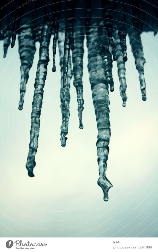 Nature Water Sky Blue Cold Ice Environment Frost Frozen Freeze Hang Icicle