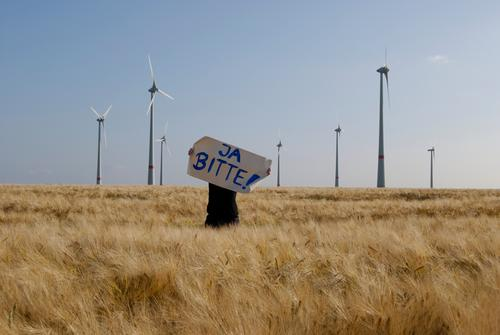 Human being Nature Summer Environment Landscape Field Energy industry Climate Free Change Sign Anger Wind energy plant Luxury Brave