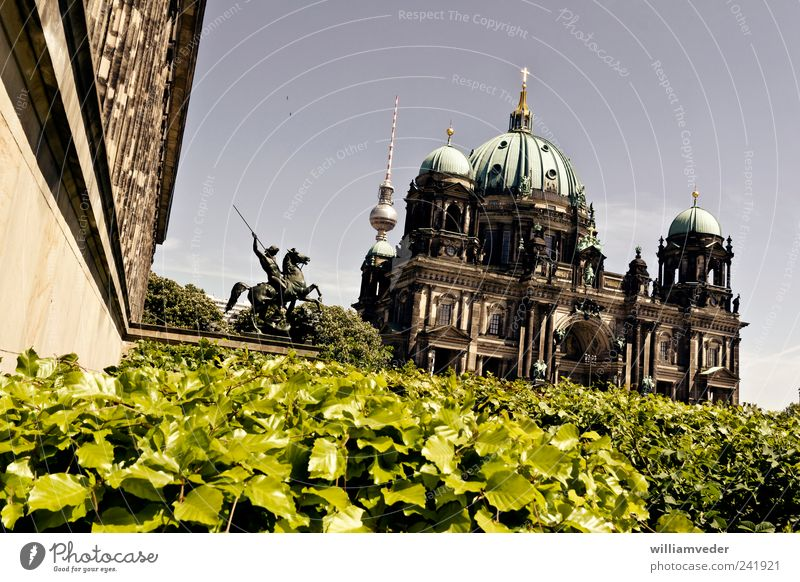 Berlin Architecture Religion and faith Germany Esthetic Church Europe Belief Historic Landmark Dome Capital city Tourist Attraction Famousness Berlin Cathedral