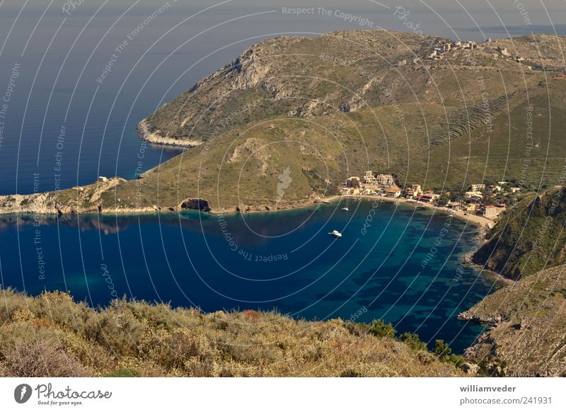 Porto Kagio | Greece Vacation & Travel Tourism Freedom Summer Summer vacation Ocean Nature Landscape Plant Water Beautiful weather Mountain Coast Bay