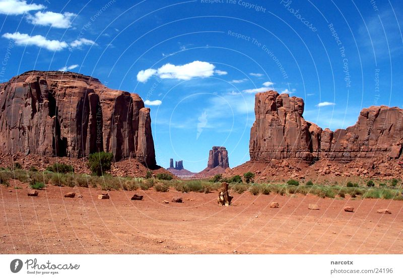 Park Large Rock Might USA Americas Blue sky Film industry National Park Western Vest Impressive Monument Valley South West