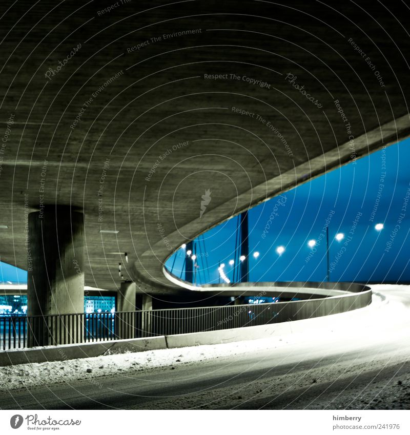 Winter Street Snow Architecture Movement Lanes & trails Ice Design Transport Climate Bridge Frost Logistics Manmade structures Traffic infrastructure
