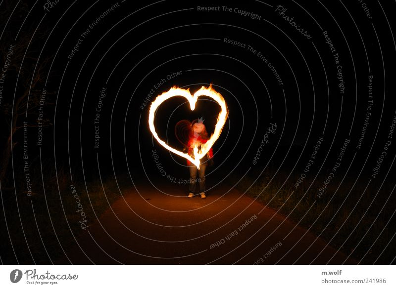 Human being Loneliness Street Graffiti Playing Emotions Lanes & trails Happy Moody Leisure and hobbies Heart Fire Sign Longing Village Draw