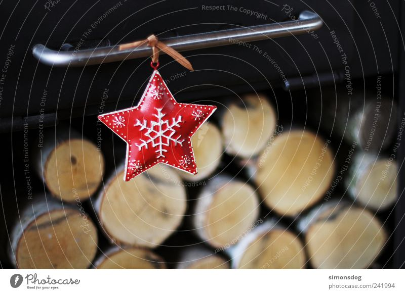 one star Feasts & Celebrations Living or residing Dark Happiness Moody Happy Anticipation Star (Symbol) Christmas star Illuminate Snowflake Wood birch Warmth