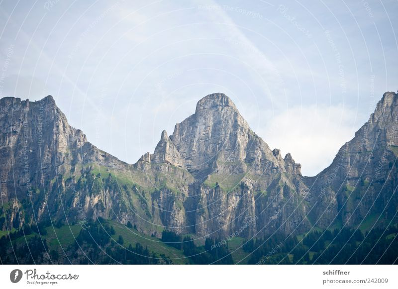 Nature Sky Forest Mountain Rock Tall Esthetic Switzerland Uniqueness Alps Fantastic Peak Slope Steep