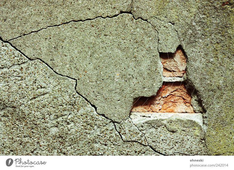 Wall (building) Stone Wall (barrier) Facade Broken Transience Decline Crack & Rip & Tear Plaster Seam