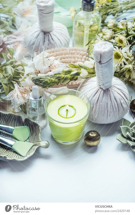 Nature Plant Beautiful Green Flower Relaxation Life Healthy Style Design Elegant Soft Herbs and spices Candle Wellness Hip & trendy