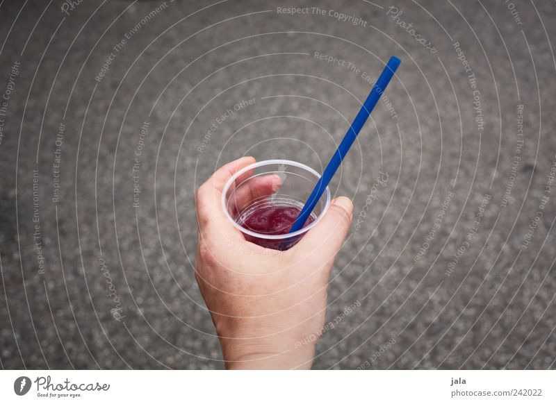 soft drink Beverage Drinking Cold drink Lemonade Juice Alcoholic drinks Mug Straw Human being Hand Fingers Delicious Blue Gray Violet Retentive Colour photo
