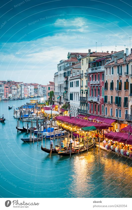 Vacation & Travel Summer Town Architecture Building Italy Manmade structures Venice Boating trip Gondola (Boat) Canal Grande