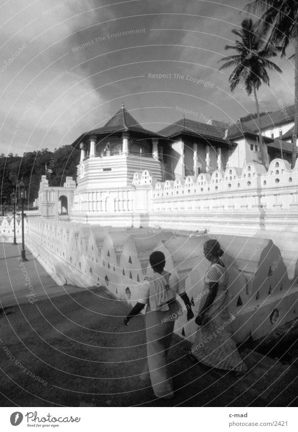 Tooth temple in Kandy - Sri Lanka Success Tooth Temple Buddha Human being Black & white photo