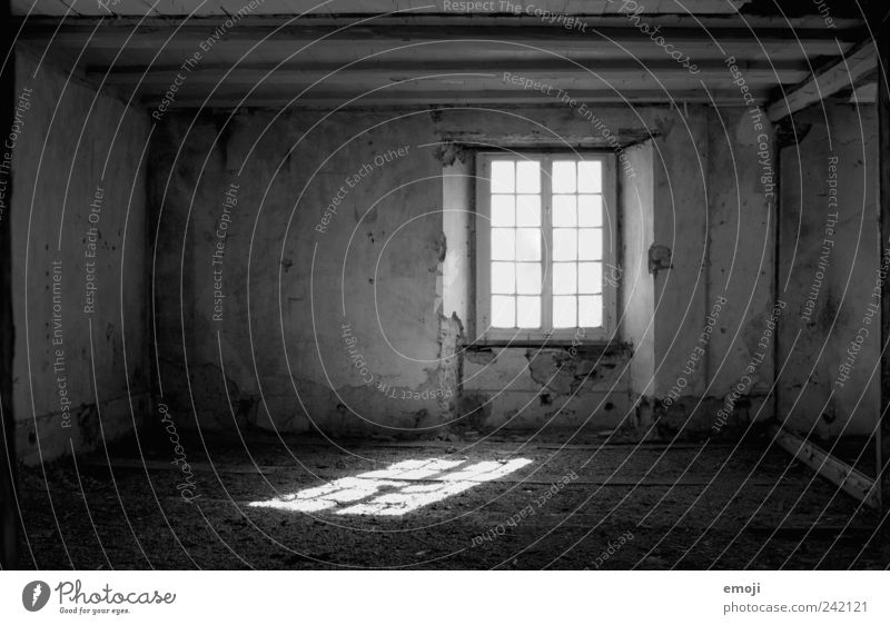 Room for thoughts House (Residential Structure) Wall (barrier) Wall (building) Window Old Dark Creepy Empty Vacancy Uninhabited Loneliness Frame Negative