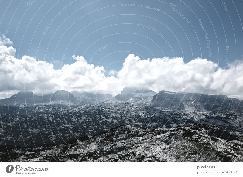 Sky Nature Old Blue Summer White Relaxation Landscape Clouds Far-off places Black Mountain Freedom Stone Brown Rock