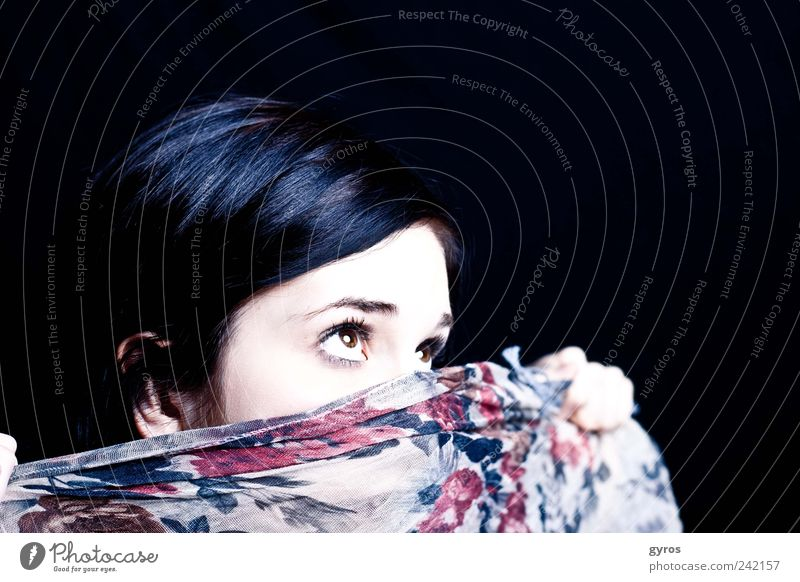 Iam shy Human being Feminine Young woman Youth (Young adults) 1 18 - 30 years Adults Black-haired Dream Looking Rag Eyes Timidity Tighten Exciting