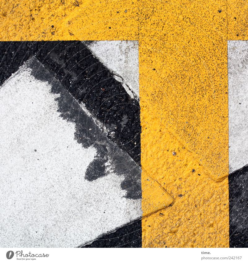 White Yellow Street Colour Signs and labeling Transport Asphalt Crucifix Warning label Objective Clue Function