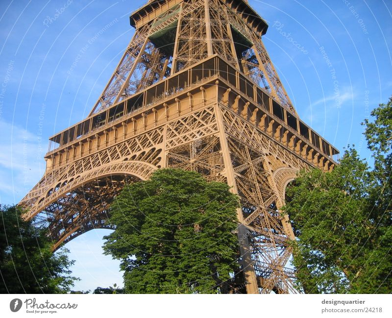 Paris Eiffel Tower Eifel France Art Park Historic Tourist Attraction Architecture