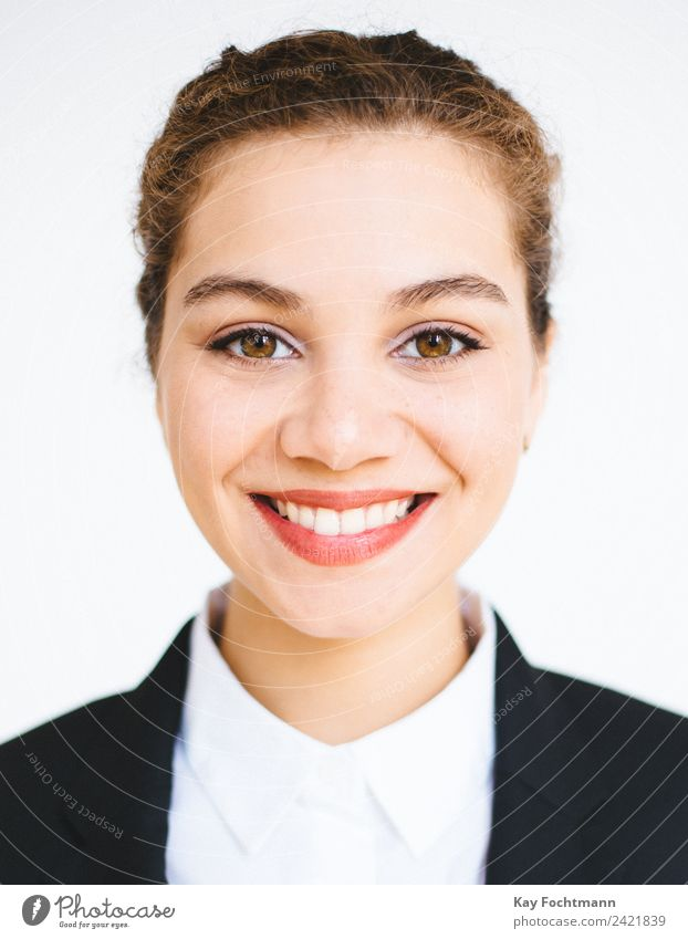 Portrait of smiling businesswoman Elegant Style Work and employment Office Business Career Success Woman Adults Life Face 1 Human being 18 - 30 years