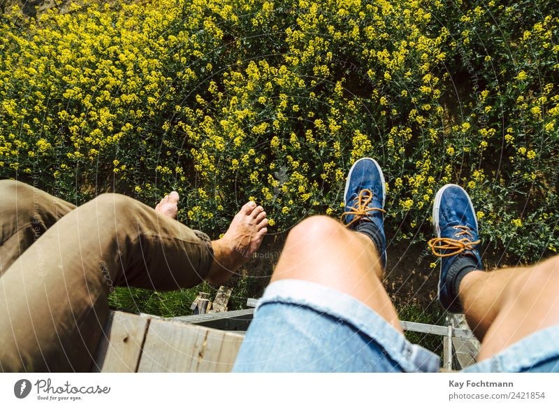 Human being Nature Vacation & Travel Youth (Young adults) Summer Landscape Relaxation Calm 18 - 30 years Adults Lifestyle Legs Freedom Feet Trip