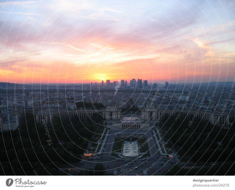 Sky Sun Europe Vantage point Tower Paris France Sunset Reaction Colouring Eiffel Tower Eifel