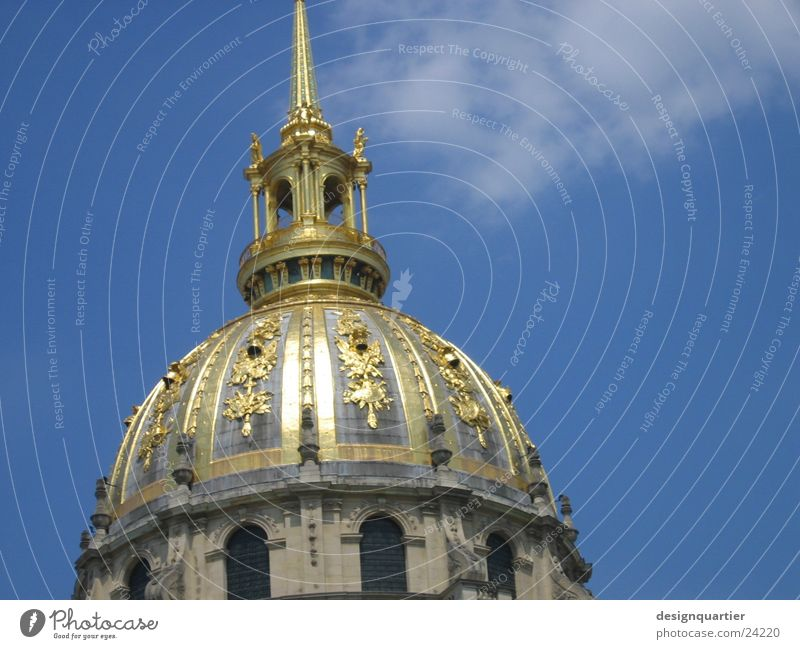 Sky Building Architecture Gold Tower Point Paris France Historic Arch Spire