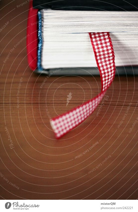 Red Art Book Signs and labeling Esthetic String Page Clue Library Advancement Reader Literature Accumulate Human being Depth of field Abstract