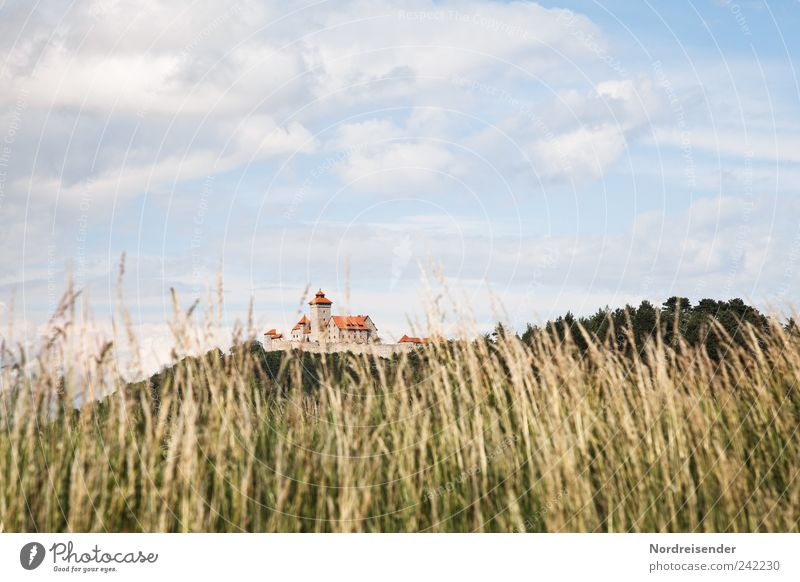 Thuringia | Grass Tourism Landscape Sky Clouds Beautiful weather Wind Meadow Tourist Attraction Landmark Esthetic Elegant Luxury Moody Tradition wachsenburg