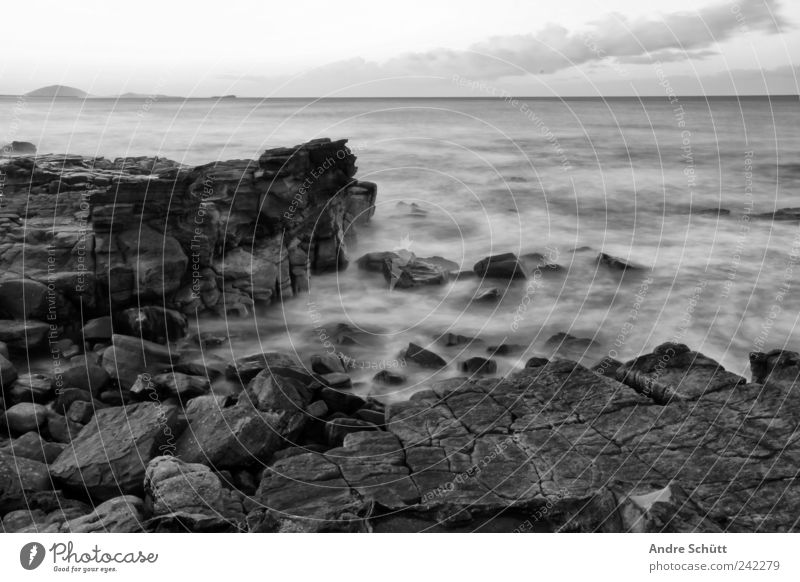 on the rocks Swimming & Bathing Elements Water Rock Waves Coast Mooloolaba Sunshine Coast Queensland Australia Fluid Wet Ocean Long exposure Horizon Clouds