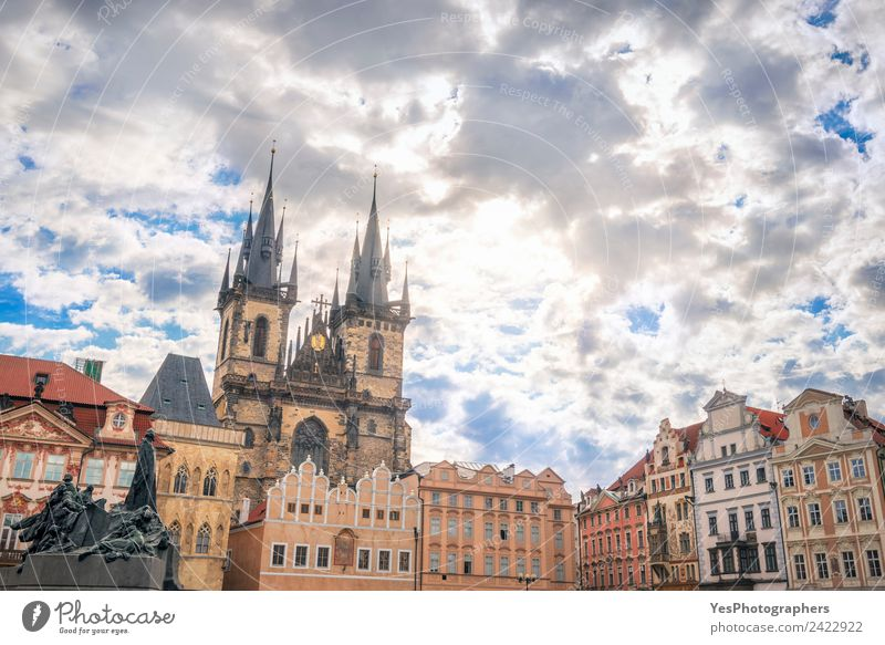 Buildings from Old Town of Prague City Vacation & Travel Summer Beautiful Landscape Architecture Lifestyle Art Gold Europe Places Tourist Attraction Old town