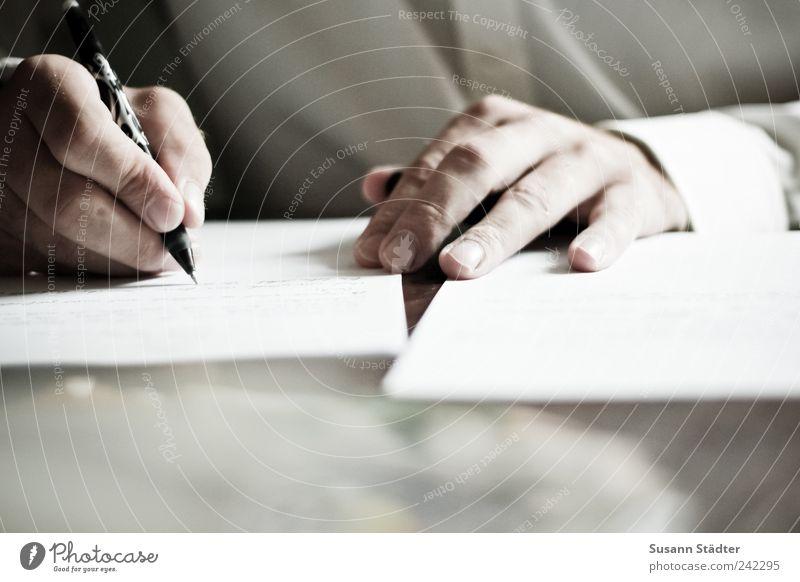 declaration of love Hand Fingers Communicate Write Love letter Pen Man Shirt Chic Thought Fineliner Men`s hand Close-up Detail Light Shadow