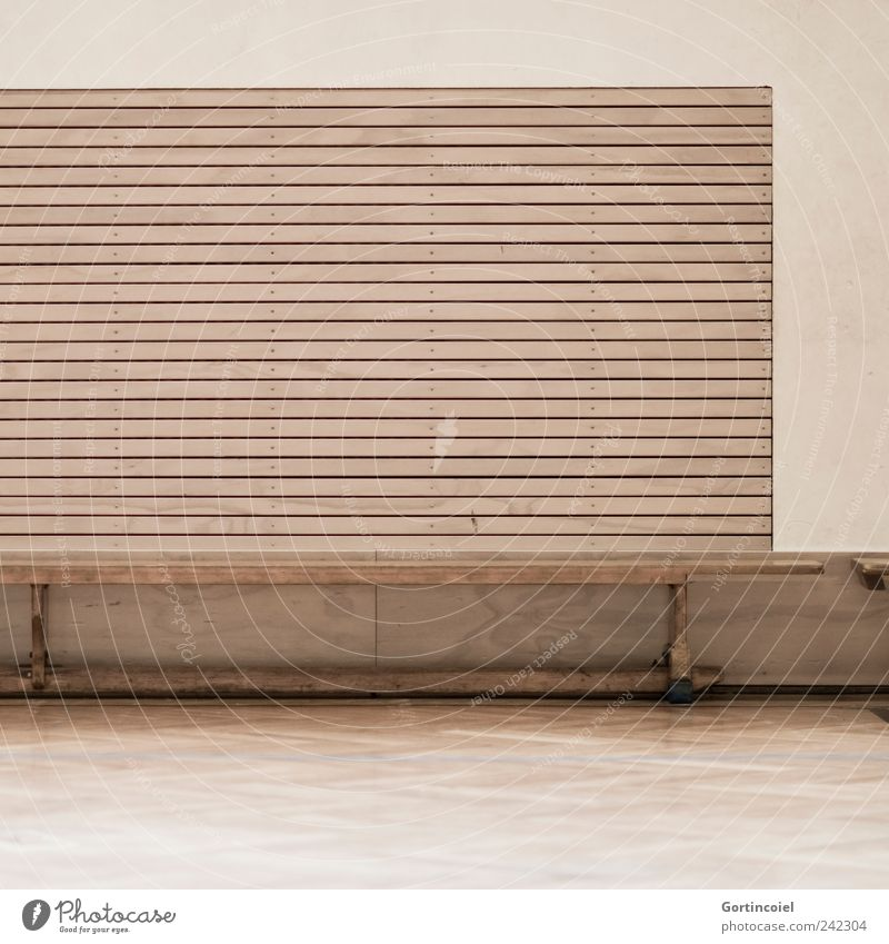 sports Leisure and hobbies Brown Gymnasium Sporting Complex Bench Colour photo Subdued colour Interior shot Copy Space bottom