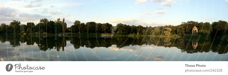 Magdeburg Adolf Mittag Lake Summer Island To enjoy Wide angle far Evening Tree Colour photo Day Panorama (View)