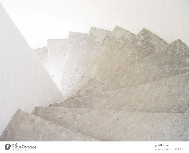 downstairs Stairs Winding staircase Downward Light Stone White Hallway Staircase (Hallway) Spiral Pure Clean Free of charge Sudden fall To fall Detail