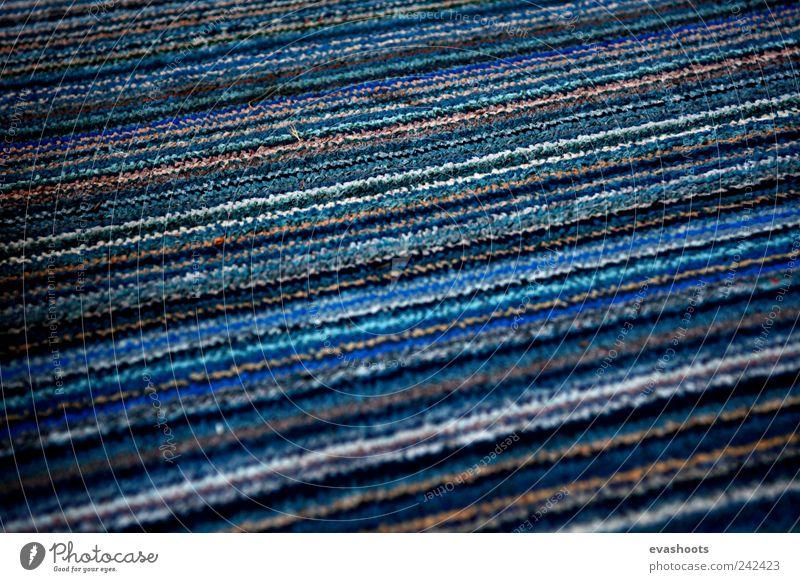 "striped carpet Furniture ""carpet teppioch streifen blau braun türkis blue brown turquoise lightblue stripes"" Decoration ""interior textile close-up"" Retro Brown"