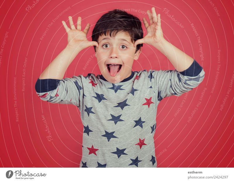 funny child show out his tongue Lifestyle Joy Playing Human being Masculine Child Toddler Boy (child) Infancy 1 8 - 13 years Fitness Smiling Cool (slang)