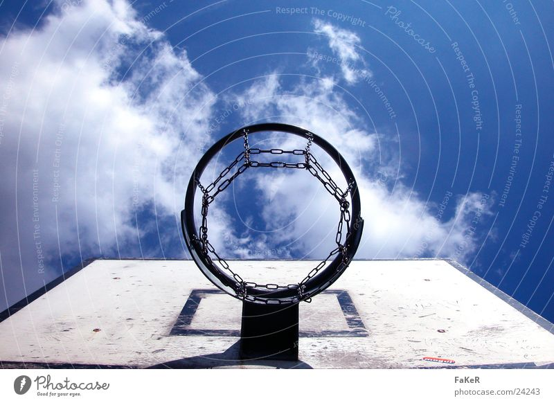 basketball weather Clouds Basket Leisure and hobbies Weather Sun Basketball Net Throw