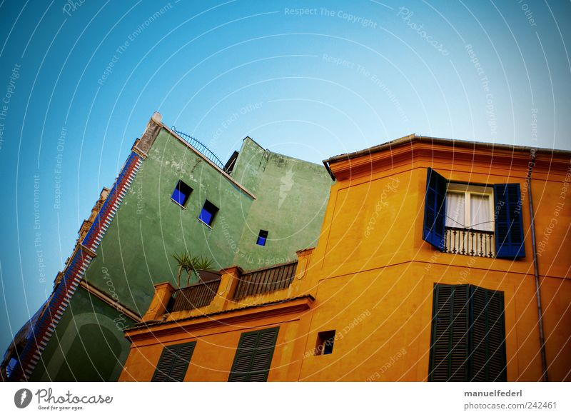 Sky Old City Green Beautiful Plant Summer House (Residential Structure) Window Wall (building) Architecture Wall (barrier) Building Orange Facade Fresh
