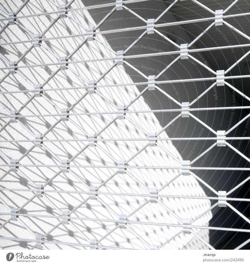 fence Style Design Fence Boundary Line Stripe Simple Gray Black White Arrangement Perspective Black & white photo Exterior shot Close-up Abstract Pattern