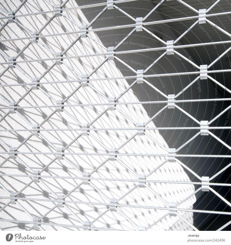 White Black Style Gray Line Design Perspective Arrangement Simple Stripe Fence Boundary