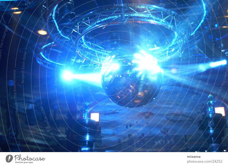 Blue Party Lighting Disco Club Sphere Radiation Reaction Disco ball Beam of light