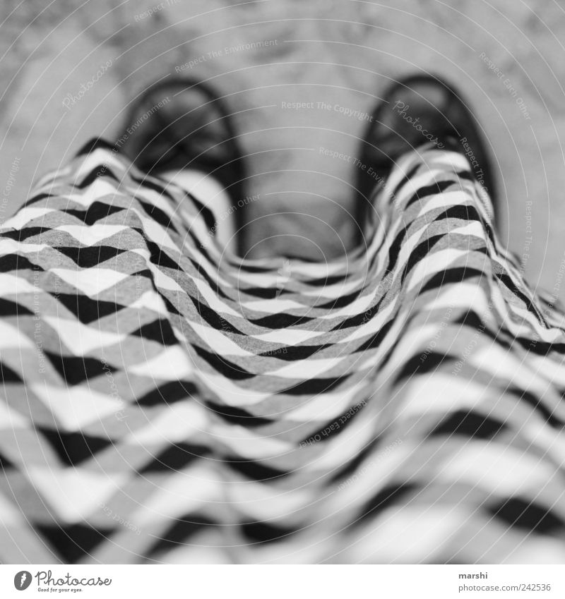 I'm not small-minded. Human being 1 Black White Checkered Meticulous Perspective Skirt Footwear Woman Blur Black & white photo